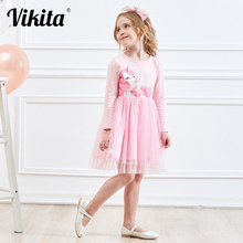 купить Retail 3-8Y 2015 neat brand dress baby girl Cartoon Children lace tutu party fashion princess dresses vestidos cloth wear LH3660 по цене 423.35 рублей