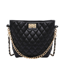 2020 New Style WOMEN'S Bag Chain Rhombus Graceful Shoulder Western Versatile Fashion Women's