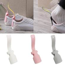 1 Pcs Lazy Shoe Helper Unisex Wear Shoe Sock Slider Steel Shoehorn Easy On & Off Shoe Lifting Shoe Helper Sturdy Slip Aid(China)