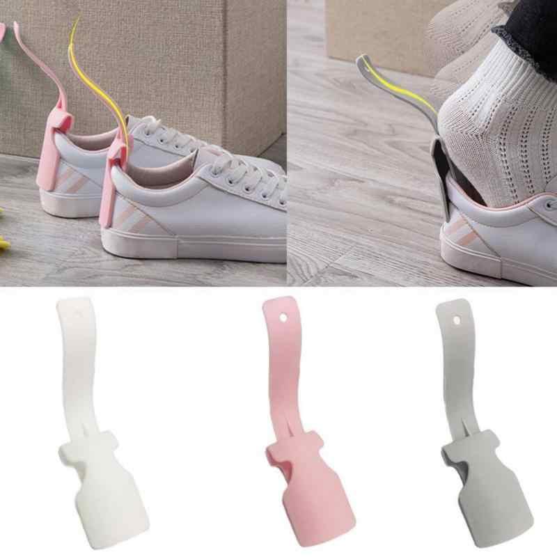 1 Pcs Lazy Shoe Helper Unisex Wear Shoe Sock Slider Steel Shoehorn Easy On & Off Shoe Lifting Shoe Helper Sturdy Slip Aid