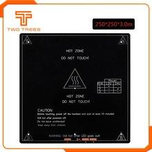 MK3 алюминиевый нагревательный стол 12 V/24 V PCB 250*250*3,0 мм части для принтера Reprap Мендель Горячие очаг 3D радиатор часть 3 мм алюминиевая пластина