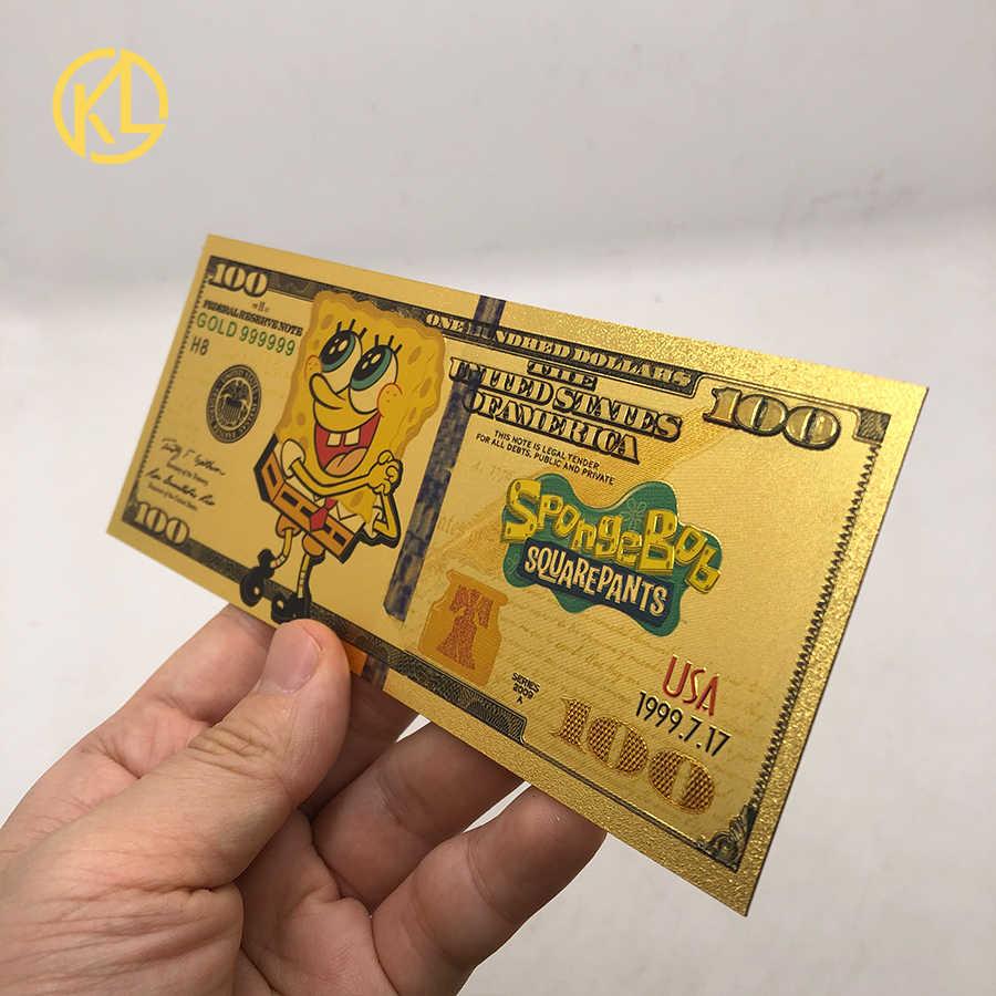 10 pcs New Nice Anime Astro Boy Gold Banknote Tetsuwan Atom For nice gift