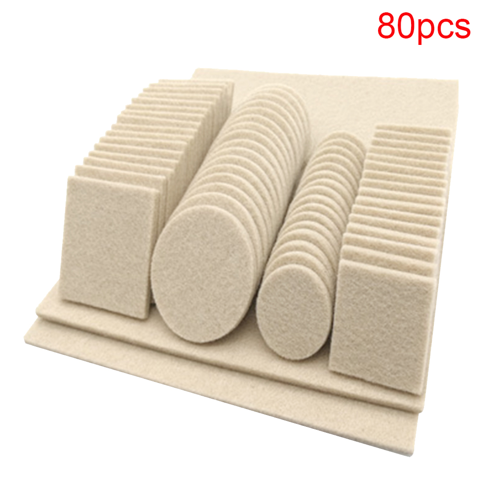 Home Easy Install Portable Furniture Legs Felt Pad Self Adhesive Protective Table Hotel Chair Multi Function Floor Anti Scratch