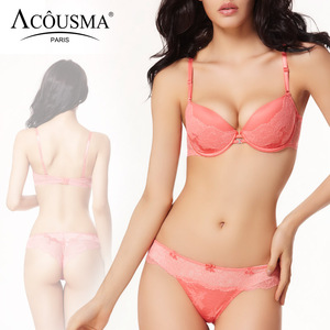 Image 2 - ACOUSMA Women Ladies Sexy Bra and Panty Sets Lace Rhinestone Brassiere Females Underwear Lingerie Set Seamless T Back Thongs