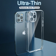 Caso de proteção de lente ultra fina para iphone 12 mini 11 pro max xr x xs max 6 7 8 plus se 2020 macio caso de silicone claro capa traseira