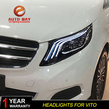 Car Styling Head Lamp case for Benz vito 2016-2019 vito Headlights Benz LED vito Headlight DRL Lens Double Beam Bi-Xenon