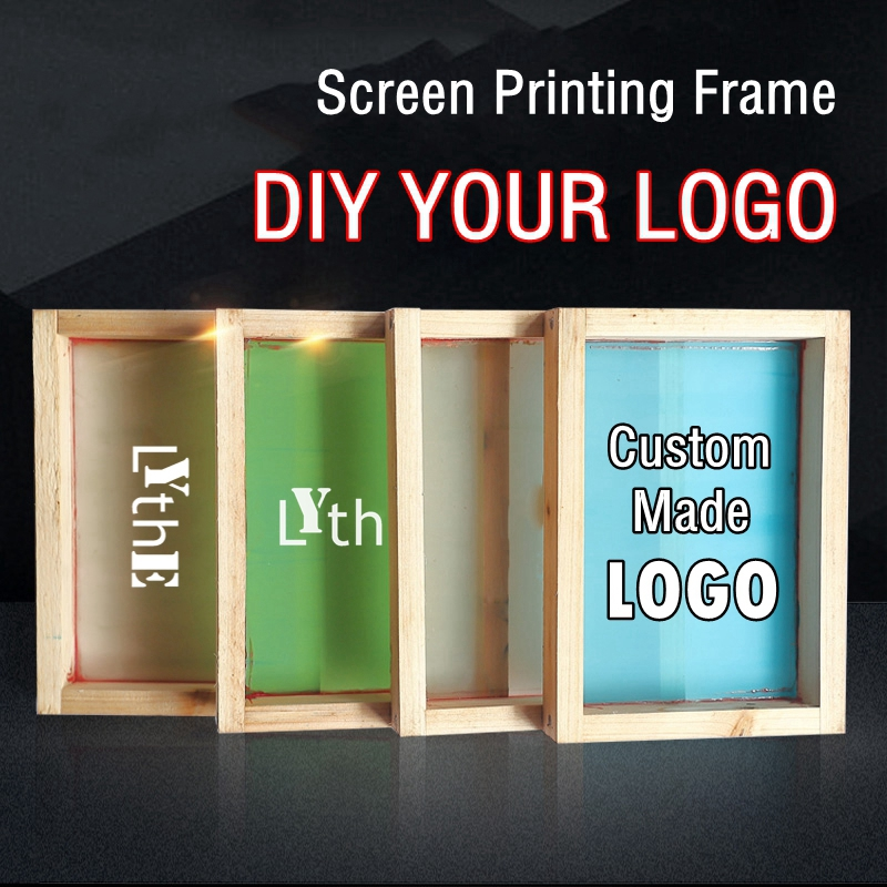 Custom Made Screen Printing Frame Silk Screen Printing Wood Frame With DIY Logo