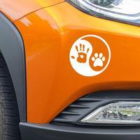 Dog Hand Car Sticker 1