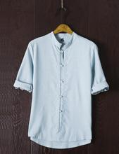 Осень новый льняная рубашка мужская рубашка с короткими рукавами свободные большой размер японские повседневные рубашки Мужские белье
