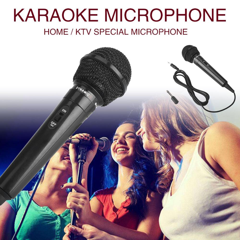 HOT Wired Microphone Protable Megaphone Public Speaking Stage Performance Black 6.3 Mm Party KTV Recording Universal