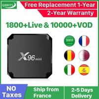 IPTV France QHDTV 1 Year Code X96 Mini Android 7.1 TV BOX S905W X96Mini IPTV Belgium Netherlands Arabic France IPTV Subscription