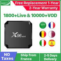 IPTV francja QHDTV 1 kod roku X96 Mini Android 7.1 TV BOX S905W X96Mini IPTV belgia holandia arabski francja subskrypcja IPTV