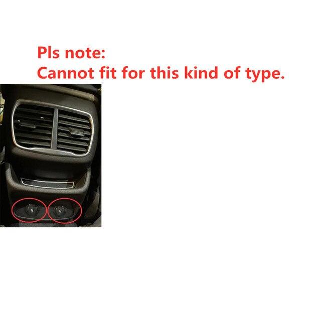 For Hyundai Santa Fe 2019 2020 Car Rear A/C Air Outlet Vent Cover Frame Sticker Car Molding Accessory 6
