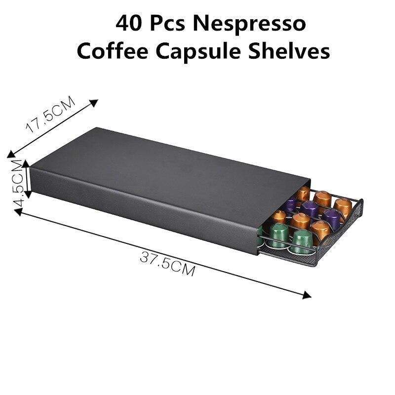 40 bakla Kahve Kapsül Organizatör Depolama Standı Pratik Kahve Çekmeceli Kapsül Tutucu nespresso kahve kapsülü Rafları