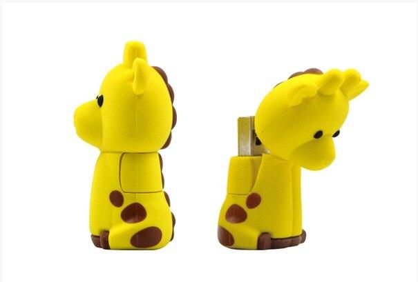 Flash-Drive Memory-Card Usb Cartoon U-Disk Giraffe-2.0 4GB 8G 16GB 32GB 64G 128GB Creative