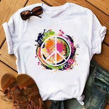 Летняя женская футболка с коротким рукавом для отдыха повседневная