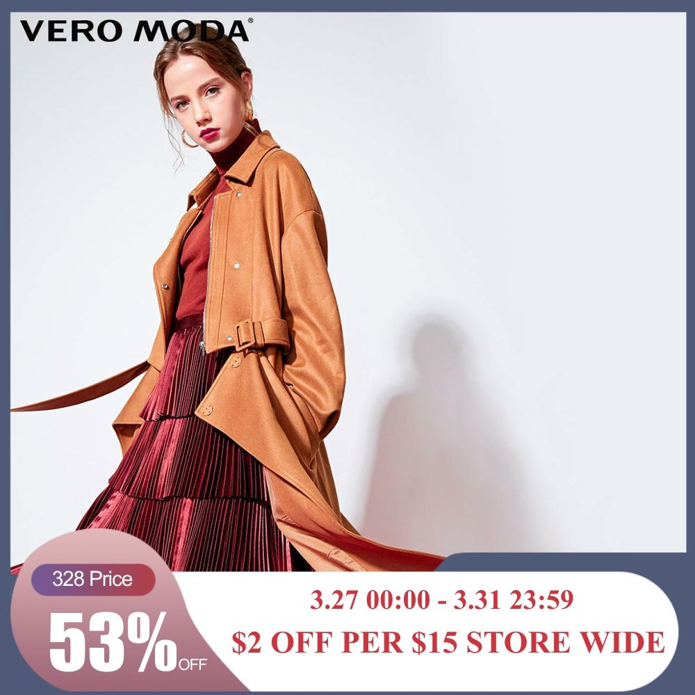 Vero Moda Women's OL Lapel Lace-Up Concealed Buttons Trench Coat | 319109502