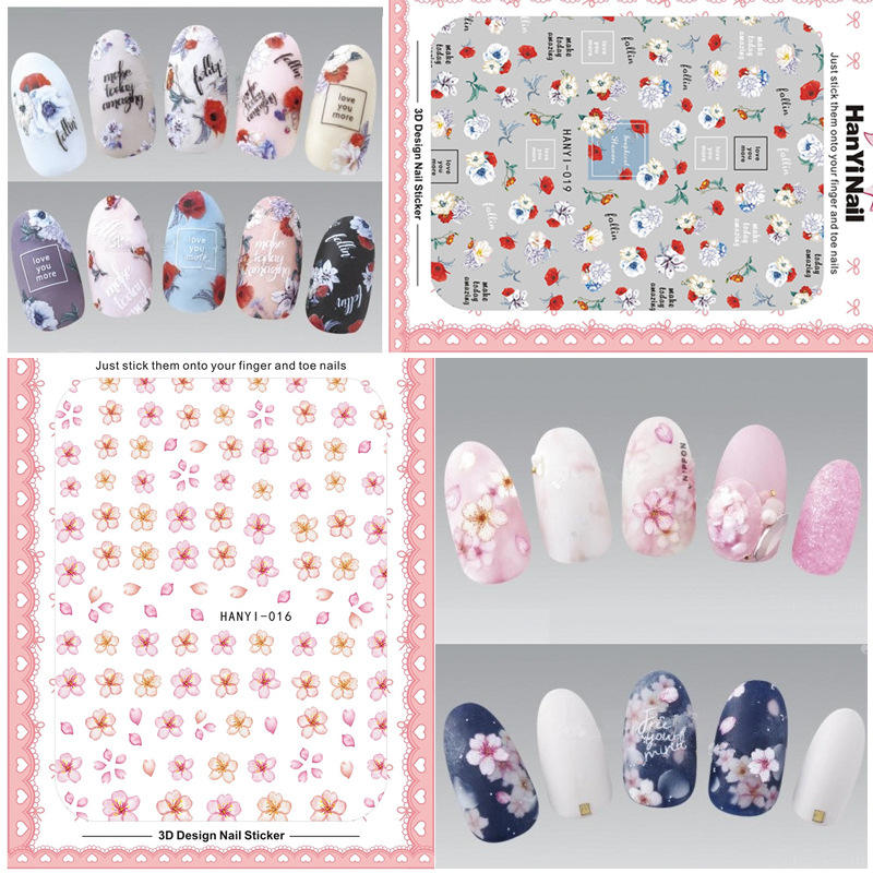 Hanyi16-20 Ultra-Thin Nail Sticker Multi-color Petal Smudge Adhesive Paper Manicure Set Japanese-style Manicure Fittings