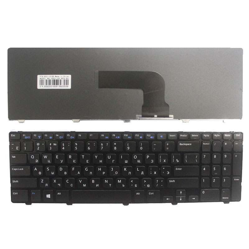 Russian For DELL Insprion 15V 3521 15R 5521 M531R 2521 3537 5528 3328 5421 PK130SZ1A00 NSK-LA0SC 01 RU Laptop Keyboard