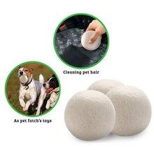 3/6 Pcs Wool Dryer Balls Reusable Wool Dryer Balls Natural Softener 6CM Drying Balls Washing Machine White Dry Kit Storage Bags