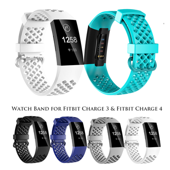 For fitbit charge 3 4 band Soft Silicone Wrist Watch Strap For Fitbit Charge 3 For Fitbit Charge 4 Band Replacement Accessories strap for fitbit charge 3 se band replacement accessories silicone wristband watchband bracelet for fitbit charge 3 4 small larg
