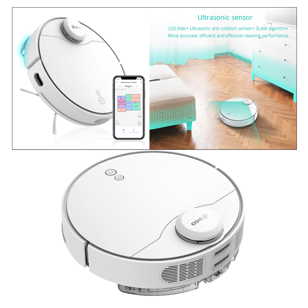 360 S9 Smart Robotic Vacuum Cleaner Sweeping Mopping Robot Large Suction Sweeper
