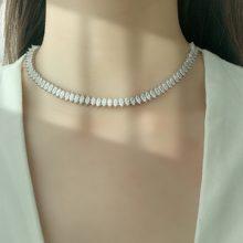 Женское классическое ожерелье чокер с кубическим цирконием класса