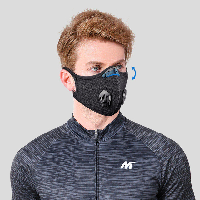 NO.ONEPAUL Dust masks activated carbon windproof mouth muffled anti-flu masks fashion black mask cotton mask facial respirator