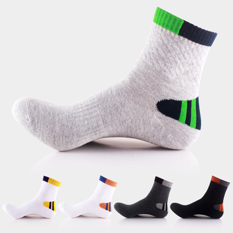 Men's Compression Cycling Socks Elite Basketball Socks Men Cotton Towel Bottom Outdoor Sports Men's Socks EU 39-44 Meias