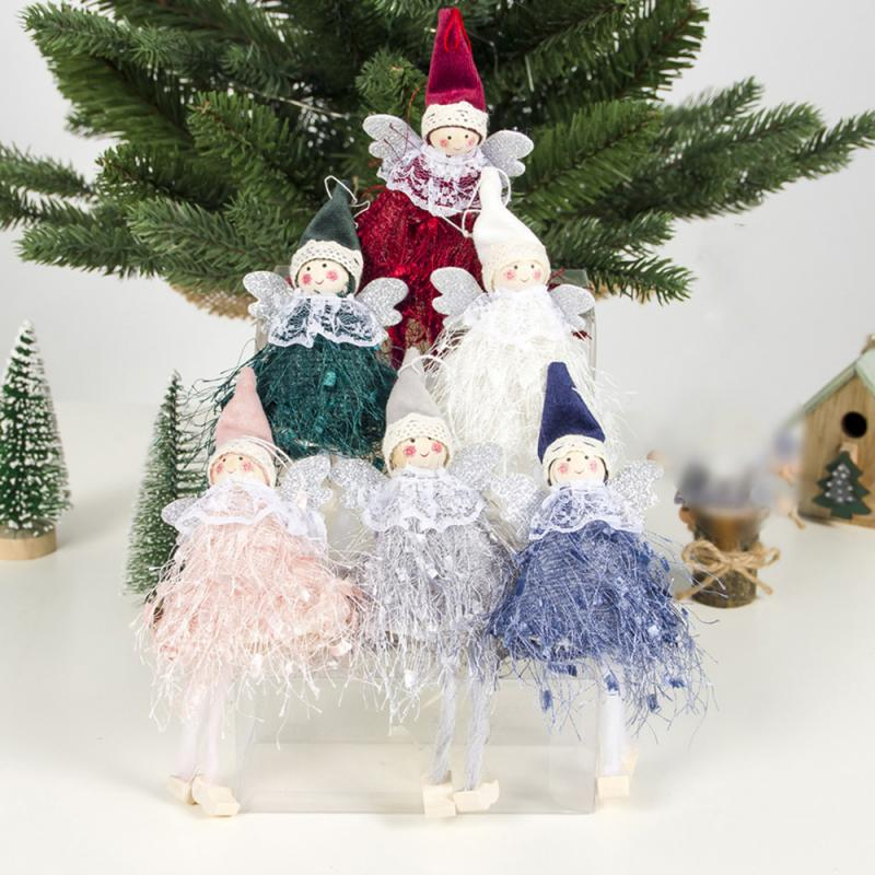 5 Colors Cute Angel Doll Christmas Decoration Pendant 2020 Christmas Tree Hanging Ornament Christmas Decoration For Home Decor