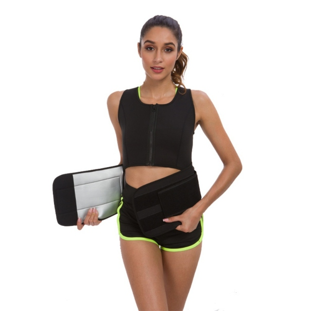Tank Top Vest Sweat Sauna Suit Sports Bra Slimming Corset With Adjustable Waist Shaper Belly Band Trainer Belt 2