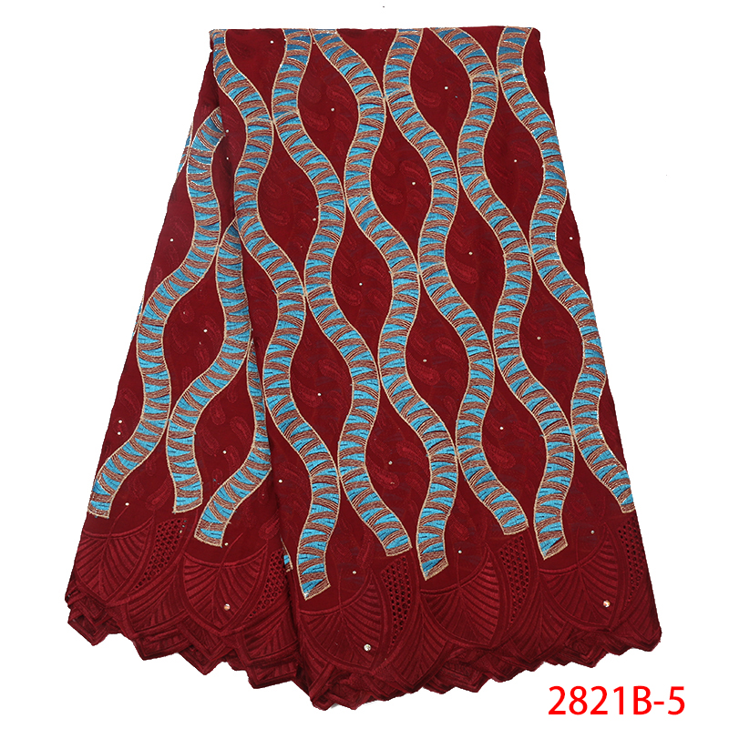 New Design Nigerian Lace Fabric,FashionSwiss Voile Lace In Switzerland,African Kano Embroidered Cotton High Quality Lace KS2821B