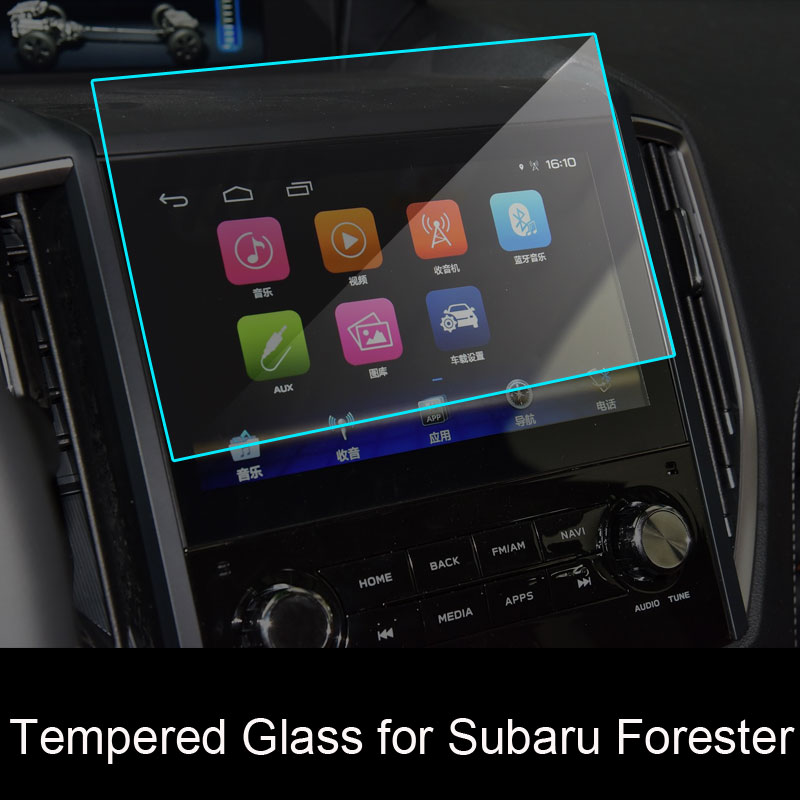 Car Tempered Glass Navigation Screen Protective Film DVD GPS Multimedia LCD Guard For Subaru Forester 2019 Accessories