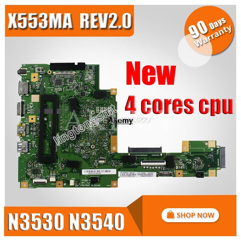 New X553MA Motherboard N3530 N3540 For ASUS A553M D553M F553M K553M X503M Laptop Motherboard X553MA Mainboard X553MA Motherboard