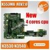 Nuovo X553MA scheda madre N3530 N3540 Per ASUS A553M D553M F553M K553M X503M madre del computer portatile X553MA motherboard X553MA-in Schede madre da Computer e ufficio su