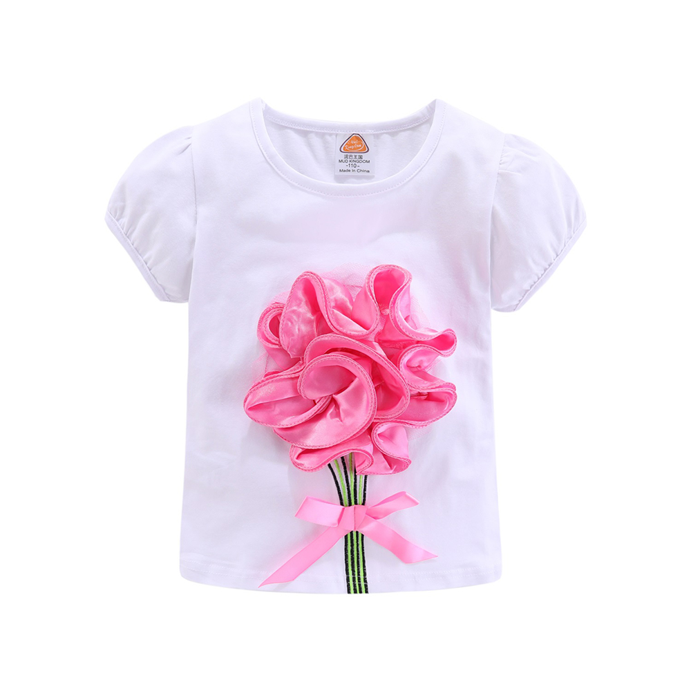 Mudkingdom Girls Outfits Boutique Flower Pattern Children Clothing Set Lace Bow Baby Girl Skirt Sets 4