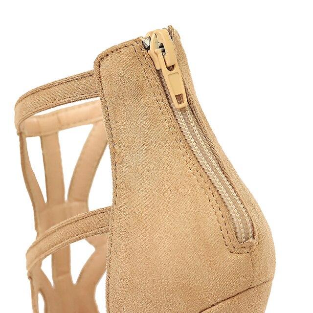 11cm  Roman Sandals Peep Toe Sandals High Heels 5