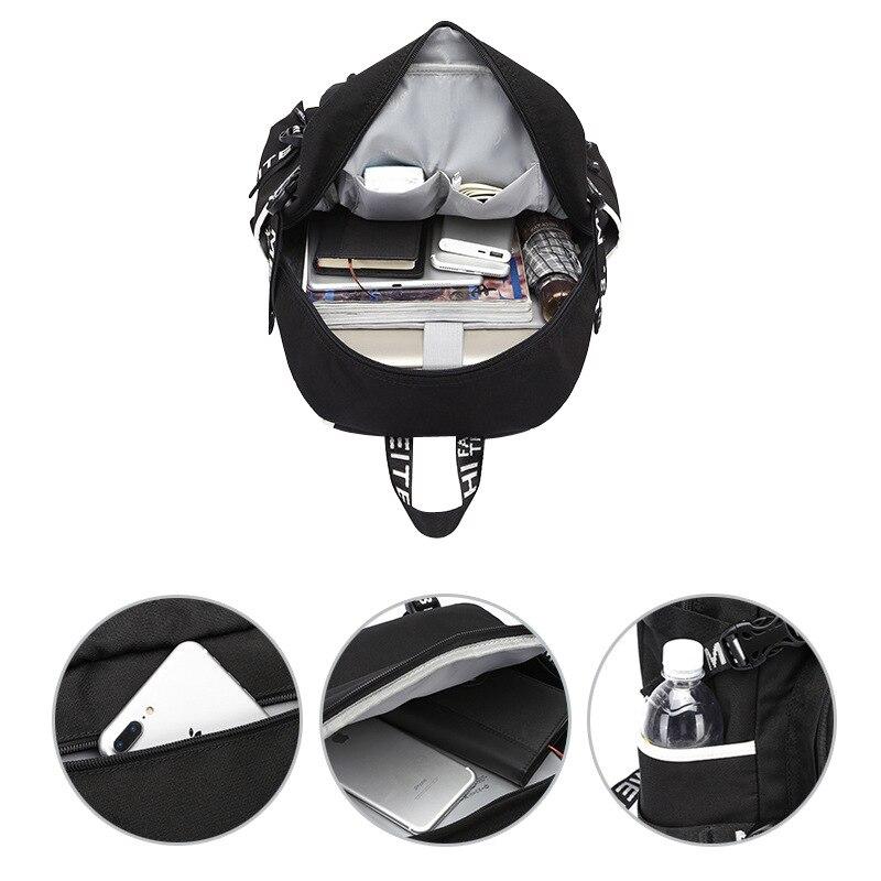 Jogo mochilas saco escolar estudante com impressão