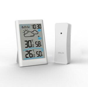 Image 1 - Weather Station Digital Thermometer Hygrometer Wireless Sensor Forecast Temperature Watch Wall Desk Alarm Clock