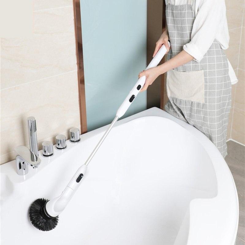 Youpin Shunzao Haste de Extensão Sem Fio Doméstico Máquina de Lavar Escova de Limpeza para Limpeza de Casa de Banho Sala de estar
