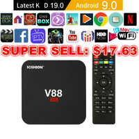 SCISHION V88 Android TV Box IPTV Android 9,0 OS 1GB 8GB RK3229 4K 3D 2,4 GHz WIFI Quad Core Smart TV Box reproductor de medios