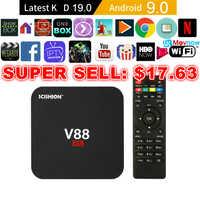 Scishion V88 Android Tv Box Iptv Android 9.0 Os 1 Gb 8 Gb RK3229 4K 3D 2.4 Ghz Wifi quad Core Smart Tv Box Media Player