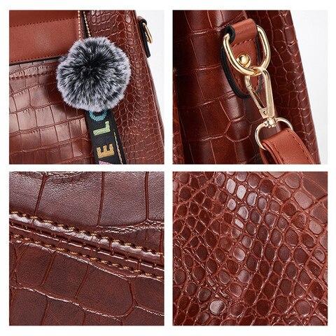 FUNMARDI 4PS Women Bags Set Luxury Crocodile Female Handbags PU Leather Shoulder Bags Brand Composite Bags Messenger WLHB2024 Multan