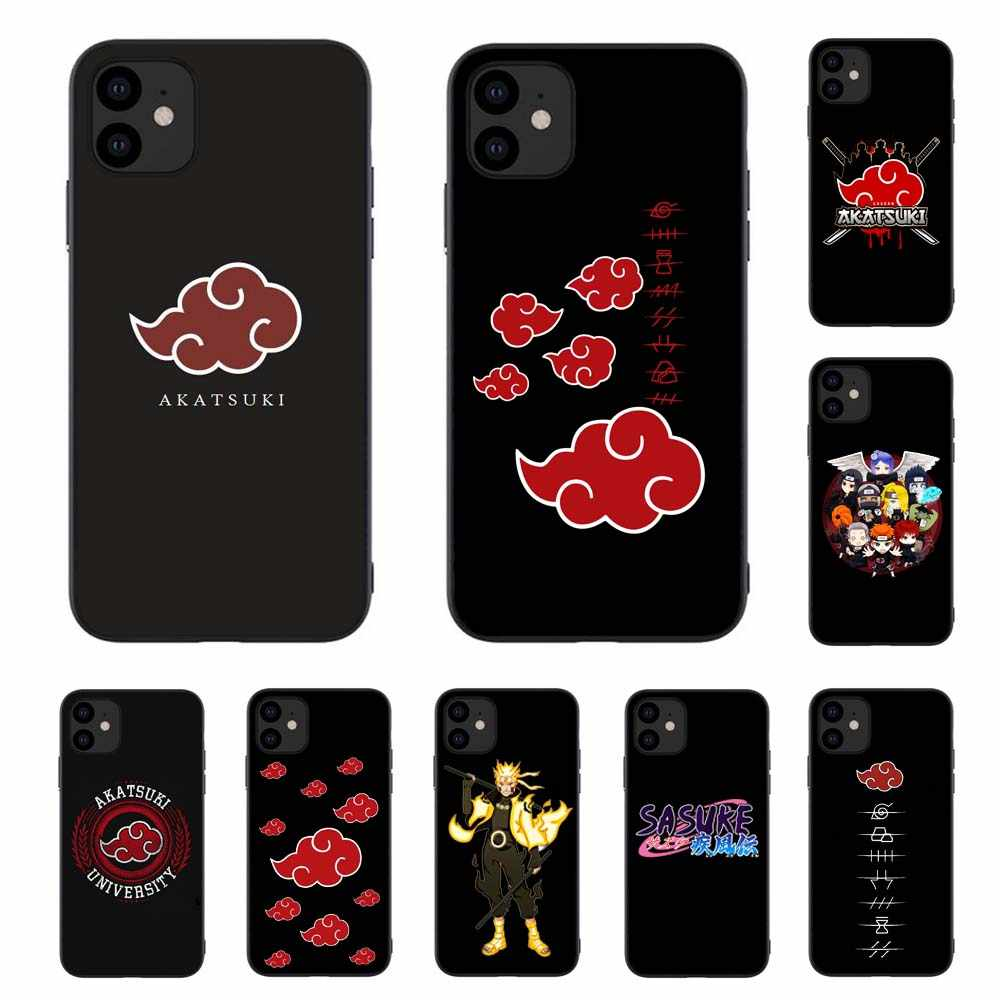 Naruto Akatsuki Uchiha Itachi University Silikon Phone Case untuk Iphone 11 Xr Pro 12 Mini Max 7 Plus 8 6 S 5 6 Se 2020 Soft Cover