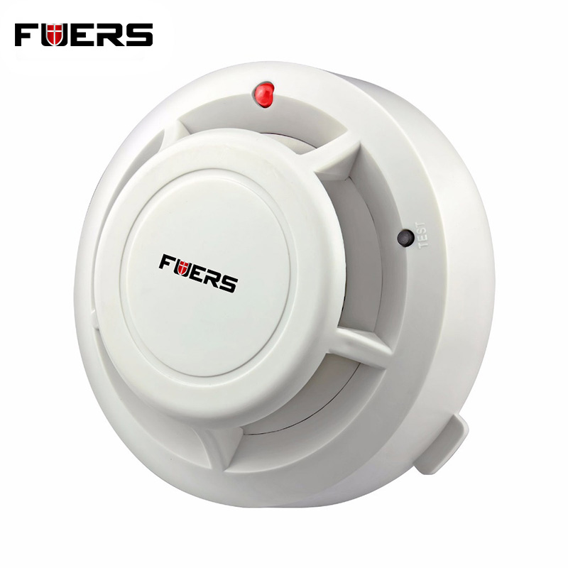 433MHZ Wireless Smoke Sensor Detector Burglar Alarm System For Home Security Alarm System