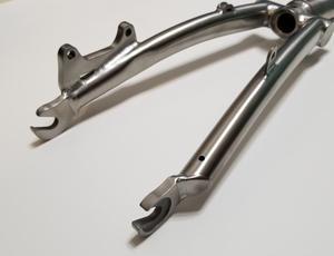 Image 5 - Titanio Triangolo Posteriore fit Brompton bici 135 millimetri di larghezza e forcella anteriore per rottura del disco di larghezza 100 millimetri