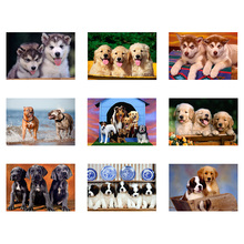 Cute Animal Dog Family 5D Diamond Embroidery DIY Painting Full Drill Mosaic Art Home Decor
