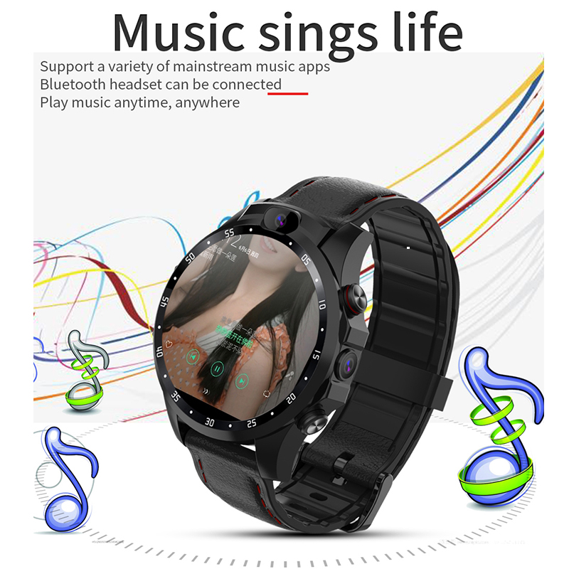 Quality Original 4G Smartwatch 3+32G GPS Dual Camera Heart Rate Fitness Bracelet Fashion Sports Smart Watch Android Alarm Clock image