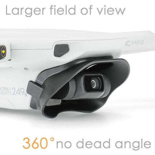 Lens Hood parlama önleyici Gimbal Lens kapağı güneşlik koruyucu kapak yok ölü açı DJI Mavic Mini aksesuarları