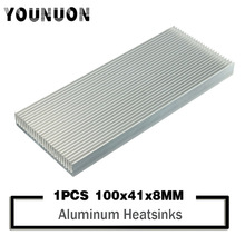 YOUNUON 100x41x8mm Aluminum Heat Sink Heatsink For High Power LED Amplifier Transistor power igbt transistor cm400dy 12